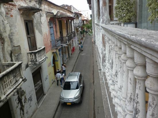 La Passion Hotel Lounge: Cartagena street