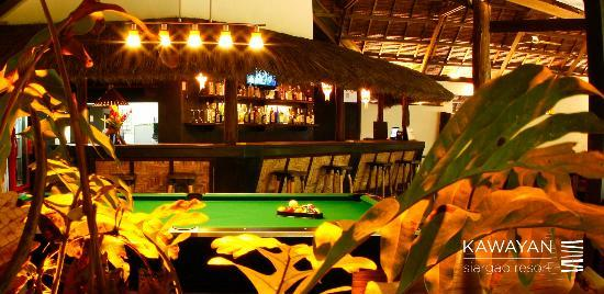 Kawayan Siargao Resort: kawayan pool table night