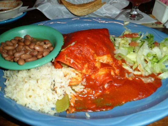Carlos & Mickey's : Flacos Enchiladas with Charlie Brown Beans and Rice