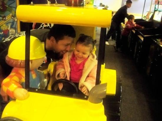 Chuck E. Cheese's: my daughter and bob the builder