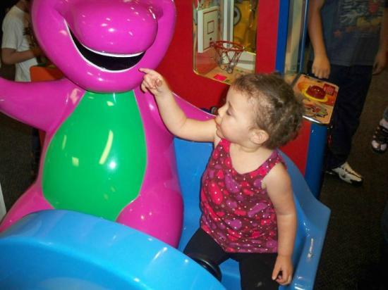 Chuck E. Cheese's: my daughter and barney