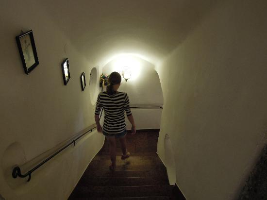 Hotel Goldener Hirsch, a Luxury Collection Hotel, Salzburg : Wonderful staircase my daughter descends