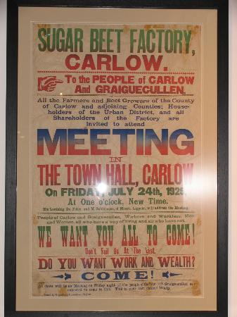 Carlow County Museum: Sugar Factory poster from 1925