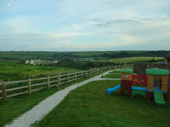 Merlin Farm Cottages Mawgan Porth: View from out front of Units