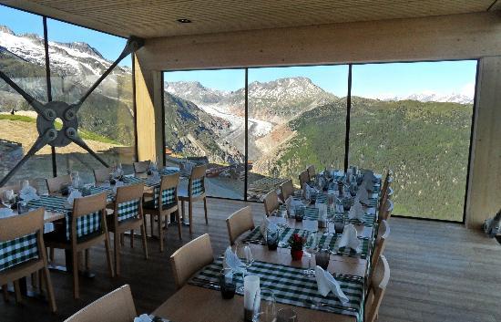 Hotel Belalp: vue sur le glacier de l'Aletsch
