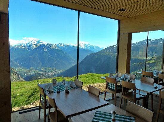 Hotel Belalp: Vue sur Brig et Mischabel Gruppe