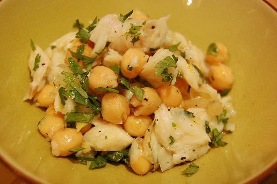 Restaurant Novamesa : salada de grao de bico com bacalhau