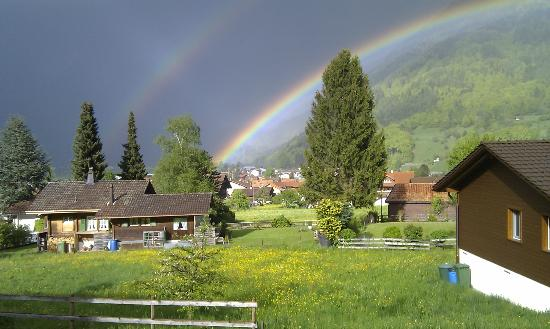 Chalet Gafri - BnB: a rainbow from your balcony - not every day!