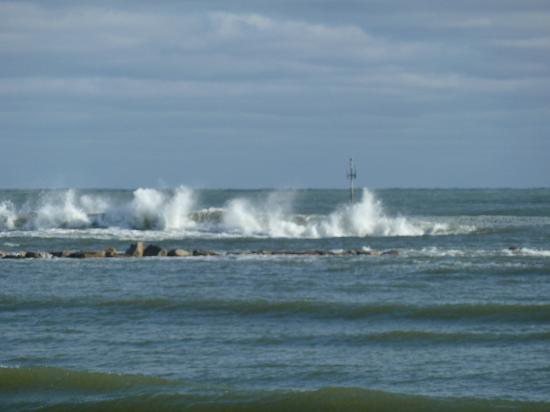 Green Harbor, MA: Waves Crashing Over The Jetty