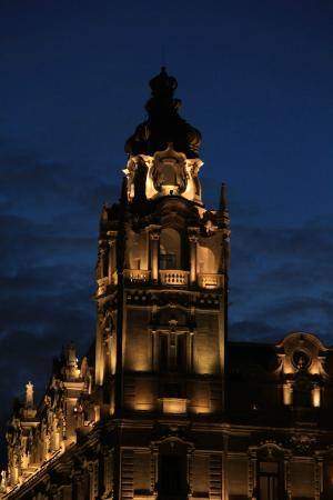 Buddha-Bar Hotel Budapest Klotild Palace: Tower during the night