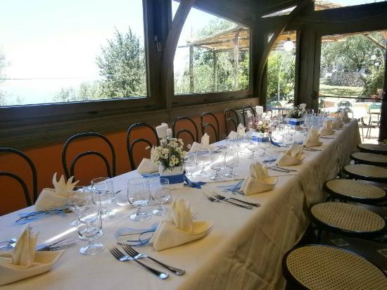 Gocce di Capri Restaurant: banchetto prima comunione