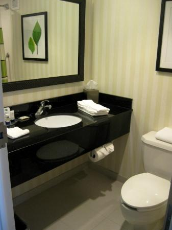 Fairfield Inn Corning Riverside: Renovated Room Bathroom