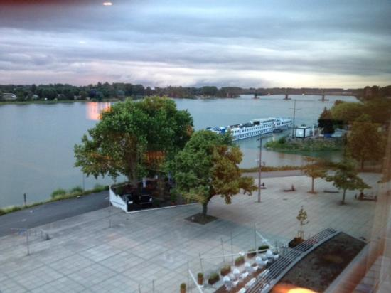 Hyatt Regency Mainz: Nice view of the River Rhine from the room.