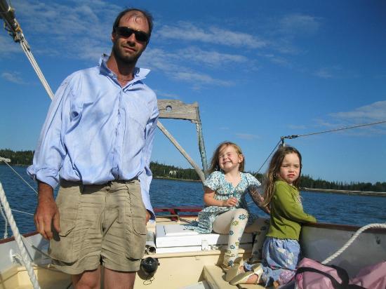 Bufflehead Sailing Charters: Cockpit of kids