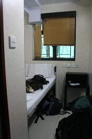 Park Guest House: look of the room with our baggage.