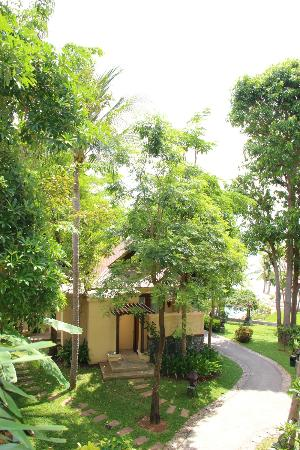 Nora Beach Resort and Spa: along the path by the bungalows