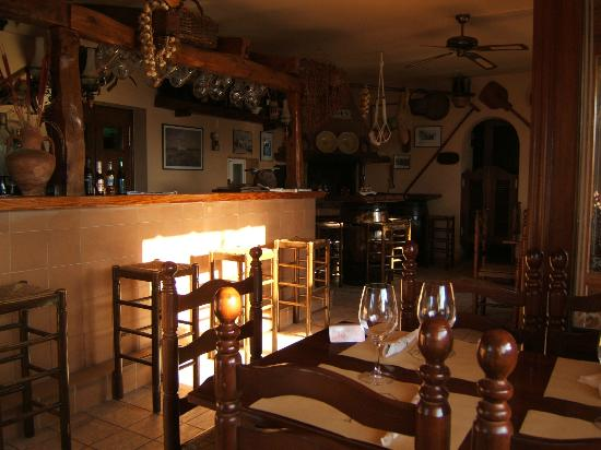 The intimate atmosphere of Can Forn Restaurant