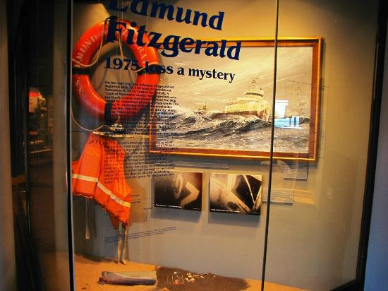 """Lake Superior Maritime Visitor Center: Display of the """"Wreck of the Edmund Fitzgerald"""""""