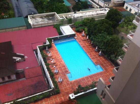 Somerset Chancellor Court: View of pool from room