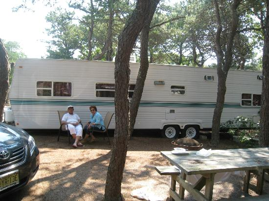 Adventure Bound Camping Resort - Cape Cod: sitting outside RV
