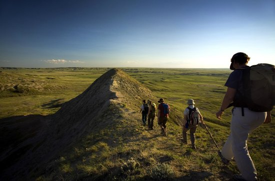 Hiking in Grasslands National Park, Saskatchewan, Canada