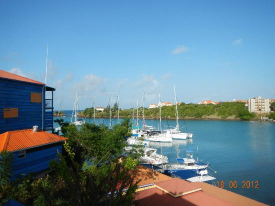 True Blue Bay Boutique Resort: Outlook from room overlooking bay