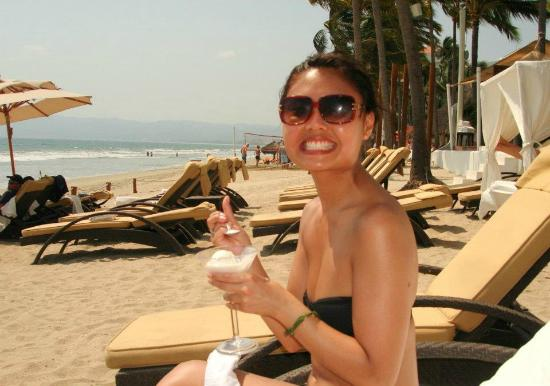 Marival Residences Luxury Resort: Coconut Ice Cream on the beach