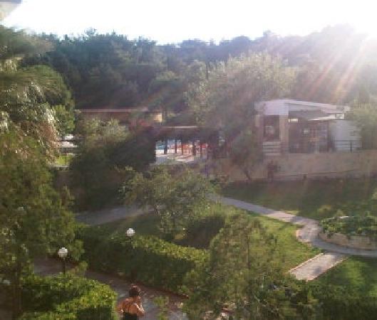 Achousa Hotel: view from balcony