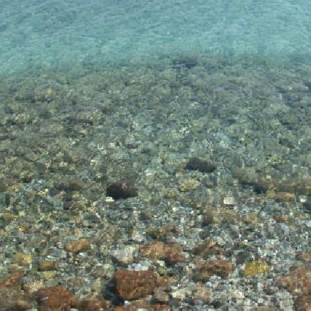 Achousa Hotel: look how clear the water is!!!