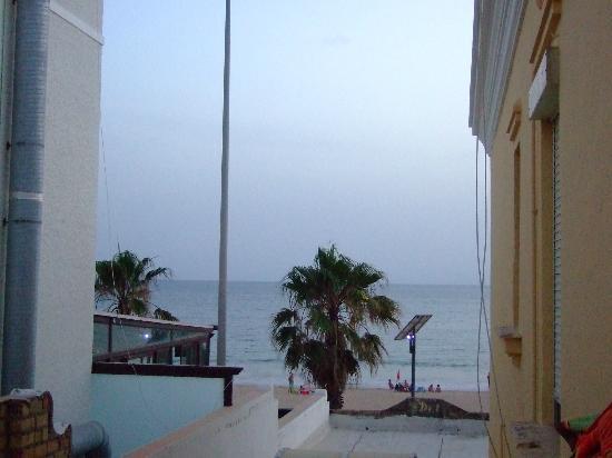 Hostal Tranvia: Vista desde la terraza , habitacion 110