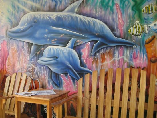 Hotelito Del Mar: Reception - Patio Area Mural