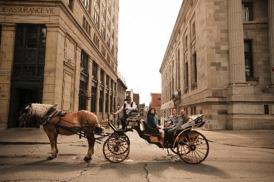 มอนทรีออล, แคนาดา: Horse & Carriage Ride in Old Montreal (Vieux-Montreal), Quebec, Canada
