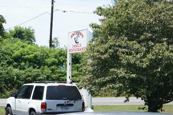 Anchor Family Restaurant: Restaurant Sign