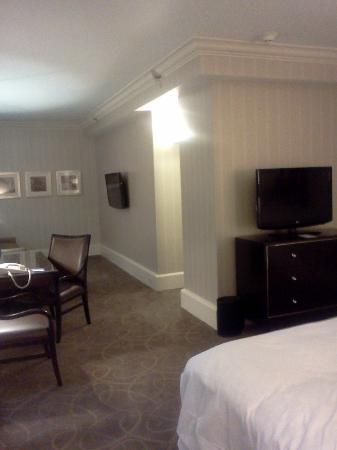 Renaissance Cleveland Hotel: Two flat screen TVs!
