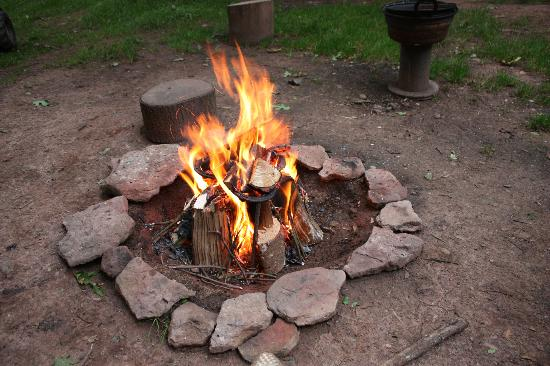 Woodland Tipis and Yurts: Campfire pit, one per property