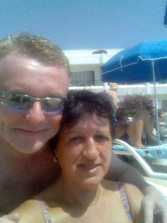 The Arthington: me and ann at the pool in tenerife