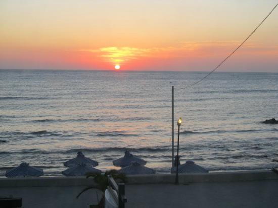 Deep Blue Sea at Georgioupolis: View from balcony room at dawn