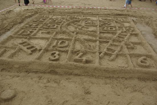Woolacombe Beach -Sandcastle Competition - Snakes and Ladders