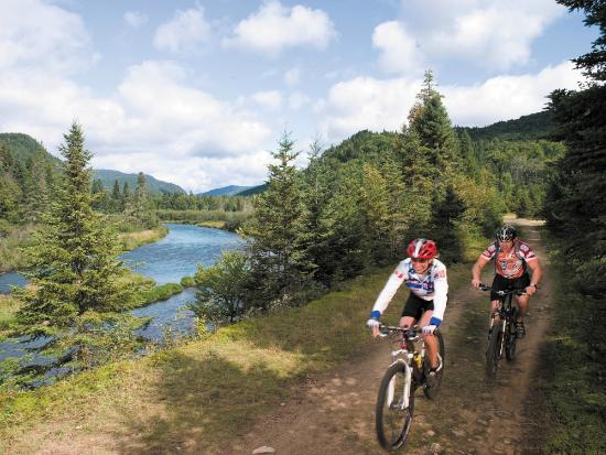 Mountain Biking in Parc national de la Jacques-Cartier, Quebec, Canada