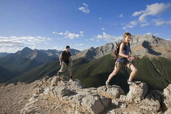 Hiking Sulphur Skyline Trail, Jasper National Park, Alberta, Canada