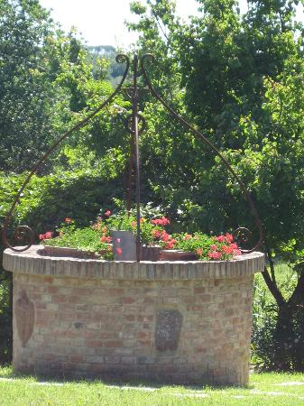 Agriturismo Canale: Canale - old well with flowers