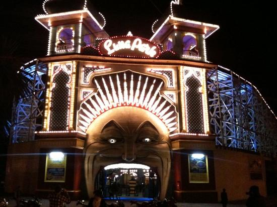 St Kilda, Australia: Luna Park by night