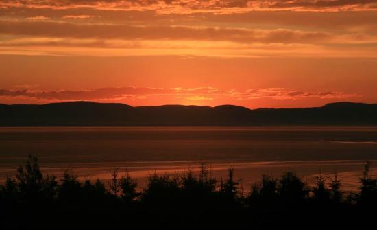 Riviere du Loup, Canadá: coucher de soleil sur le Saint Laurent
