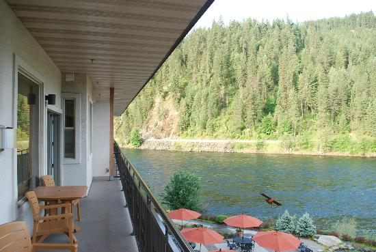 BEST WESTERN PLUS Lodge at River's Edge: From our balcony