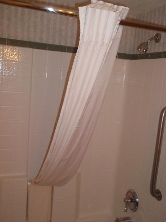 كومفورت سويتس إيربورت: shower curtain nicely folded