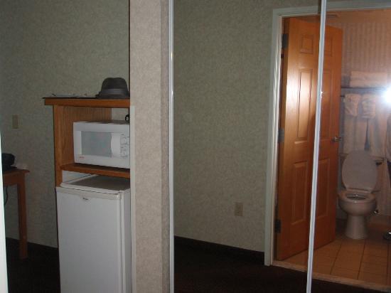 كومفورت سويتس إيربورت: medium size frig, micro, full length closet with full mirrors