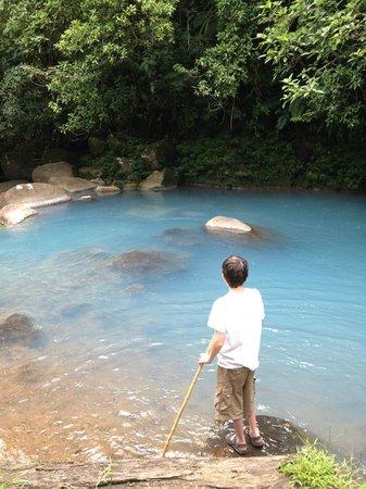 Cabinas Piuri: Rio Celeste area about 30 yards from cabins