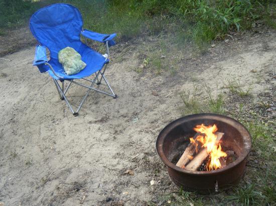 Lake George Escape Campground : Campfire