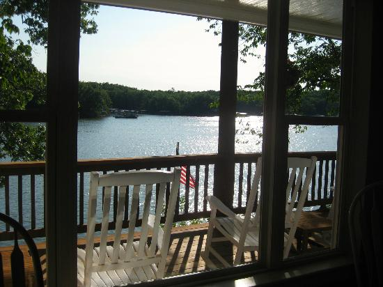 Bass and Baskets: View from common area, with its own large deck & rockers