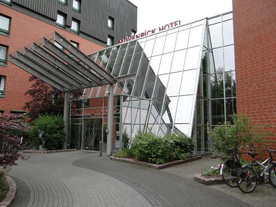 hotel 39 s front view bikes picture of moevenpick hotel muenster muenster tripadvisor. Black Bedroom Furniture Sets. Home Design Ideas